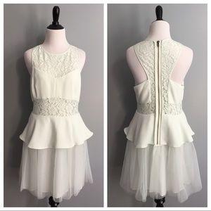 BCBGeneration mint lace & tulle dress